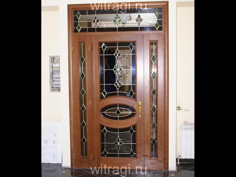 Пленочный витраж: Витражи с фацетами для украшения двери
