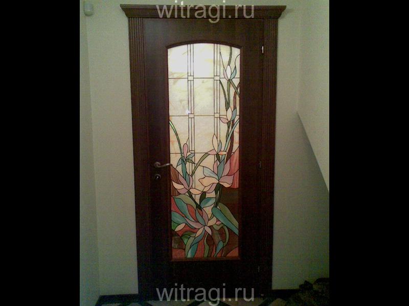Пленочный витраж: Витраж для дверей «Разнотравье»