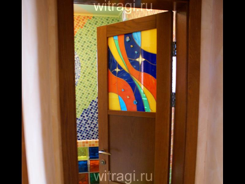 Пленочный витраж: Витраж в межкомнатную дверь «Волшебные сны»