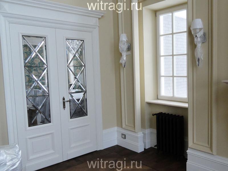 Витраж Тиффани: Витраж «Фацетный» для распашной двери