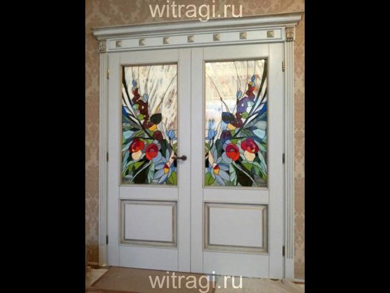 Витраж Тиффани: Витражи для дверей «Утро в саду»