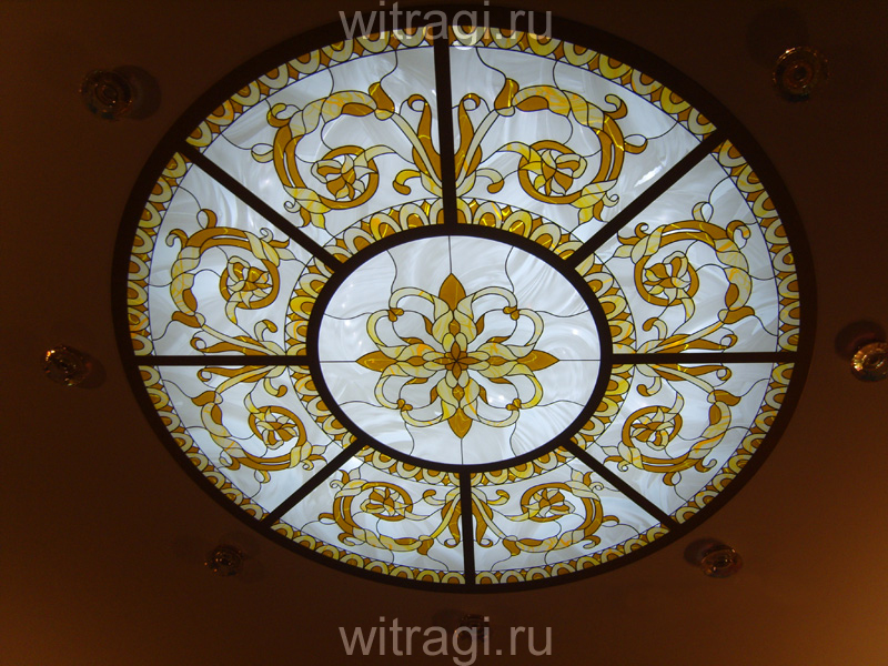 Пленочный витраж: Витраж на потолок «Итальянское барокко»
