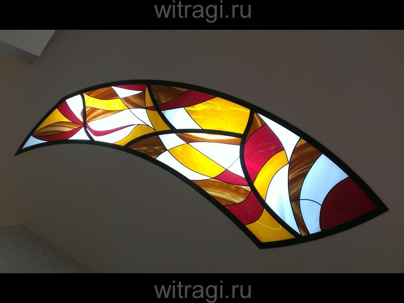 Пленочный витраж: Плёночный витраж на потолок «Поток сознания»
