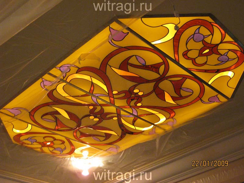 Пленочный витраж: Витражный потолок в стиле восток «Восточные сказки»