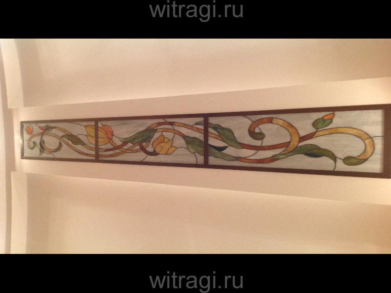 Витраж Тиффани: Витраж «Орнамент в духе возрождения»