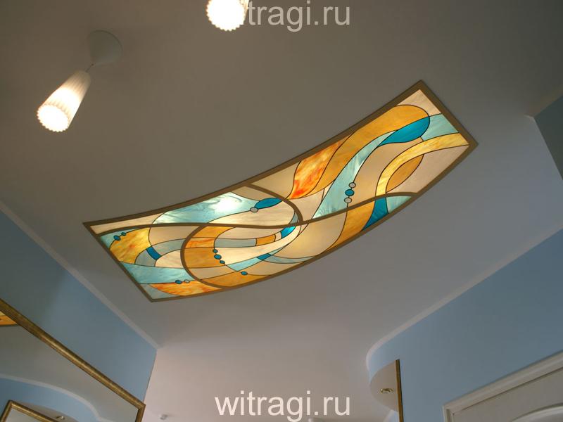 Витраж Тиффани: Витраж в потолок «Море и солнце»