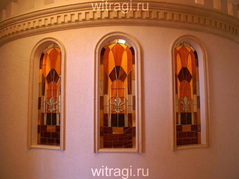 Пленочный витраж: Витражи в окна межкомнатной перегородки