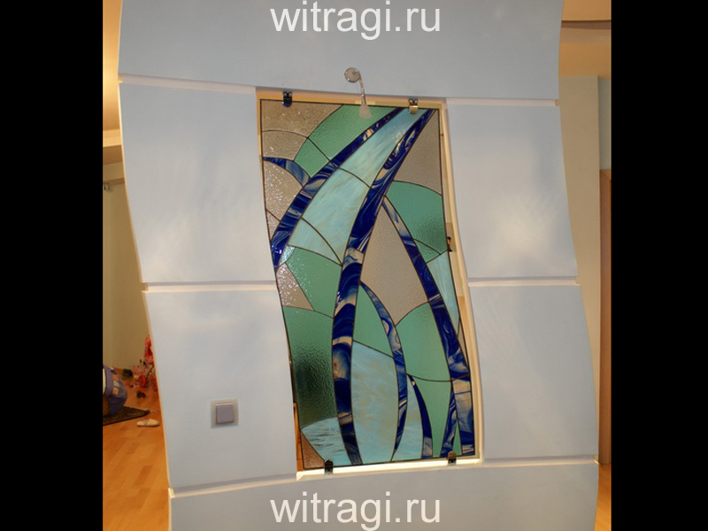 Витраж Тиффани: Витражная перегородка для разделения помещения