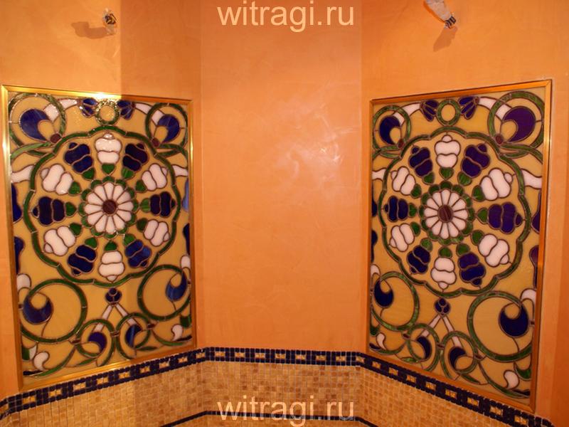 Витраж Тиффани: Витражи на стены в ванной