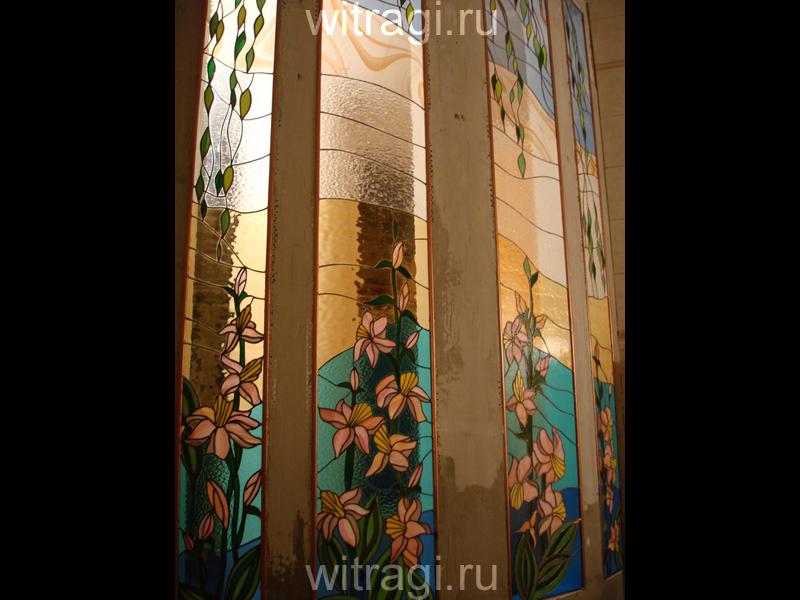 Витраж Тиффани: Витражная композиция на стену