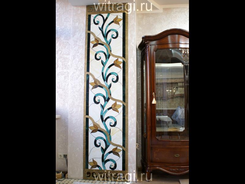 Витраж Тиффани: Витраж на стену «Классический орнамент. Вертикальная лента»