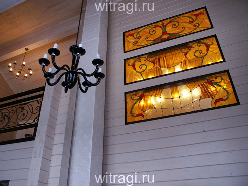 Витраж Тиффани: Витражи с подсветкой в межкомнатную перегородку