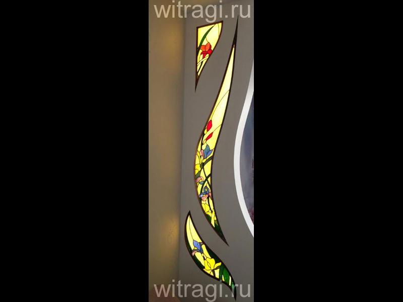 Витраж Тиффани: Витражная композиция «Июньский ветер»