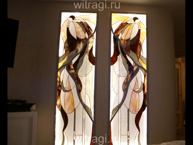 Витраж Тиффани: Витражный диптих «Небрежная роскошь»