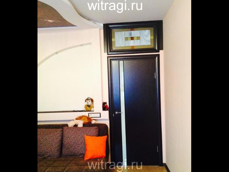 Витраж Тиффани: Витраж над дверной коробкой «Несложная Геометрия»